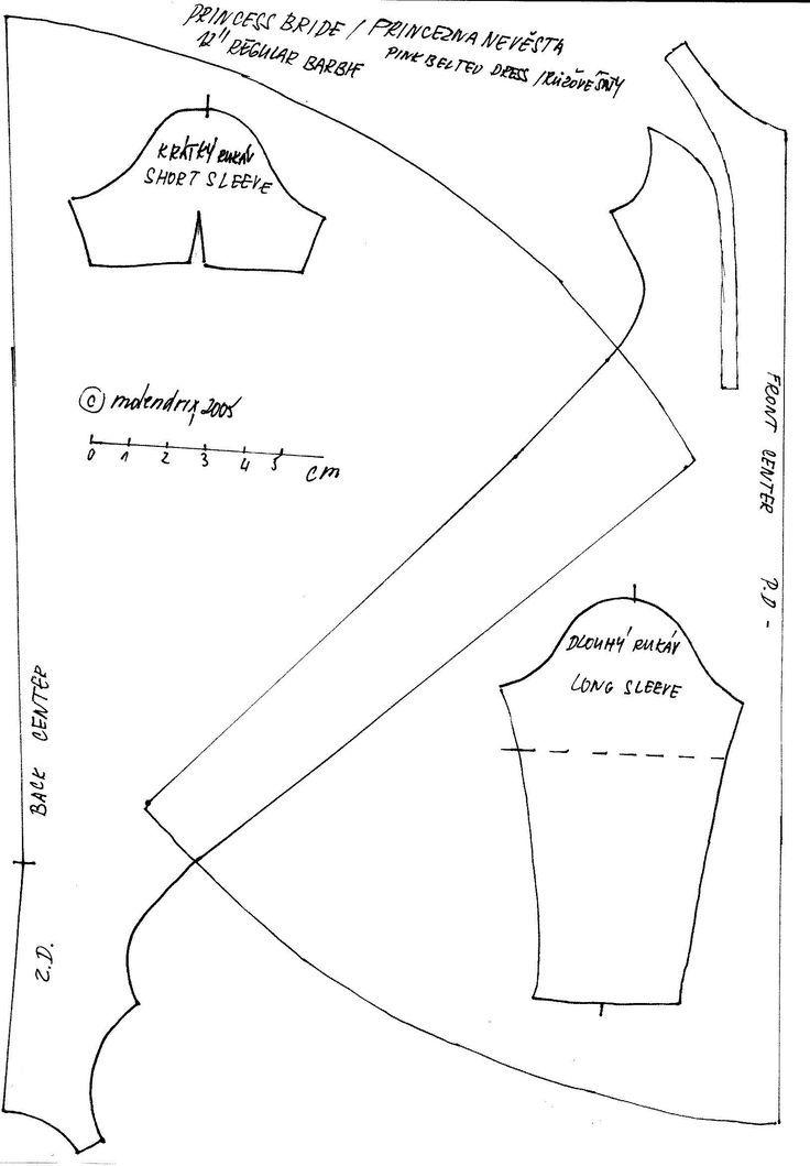 Barbie dress pattern   Free Barbie sewing patterns   Pinterest ...