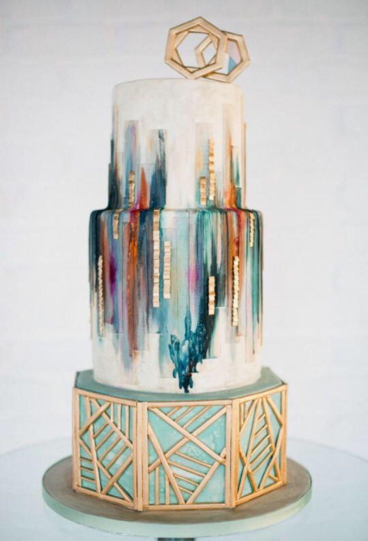 Artsy cake I like it.