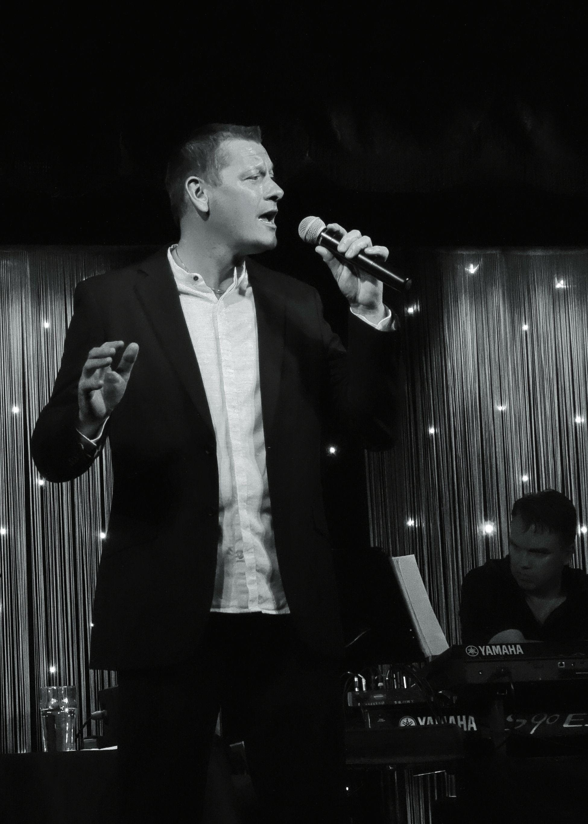Michael C.Langton at Coxlodge Club, 2016