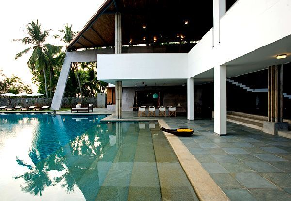Square Swimming Pool In Beach House Design Kerala Home Design Is Dream Home Located On The Beach