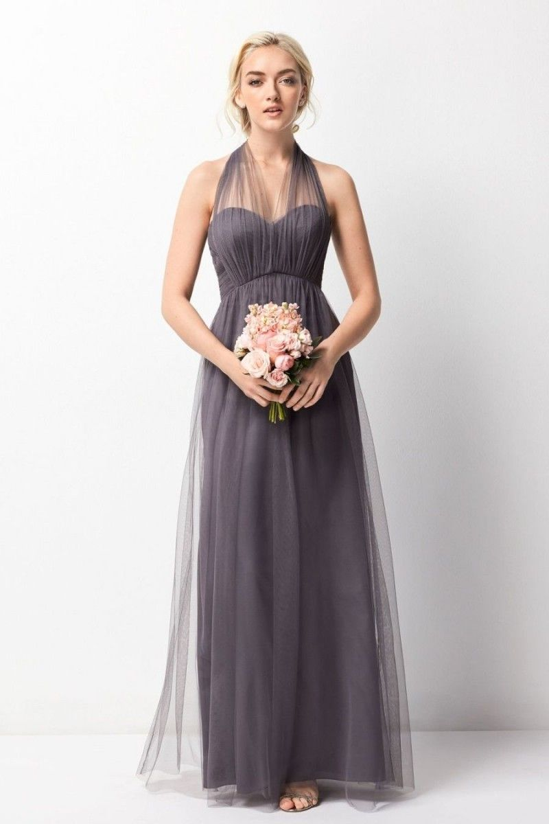 Size 6 pewter wtoo 245 is a convertible strapless bobbinet floor size 6 pewter wtoo 245 is a convertible strapless bobbinet floor length bridesmaid dress with ombrellifo Images