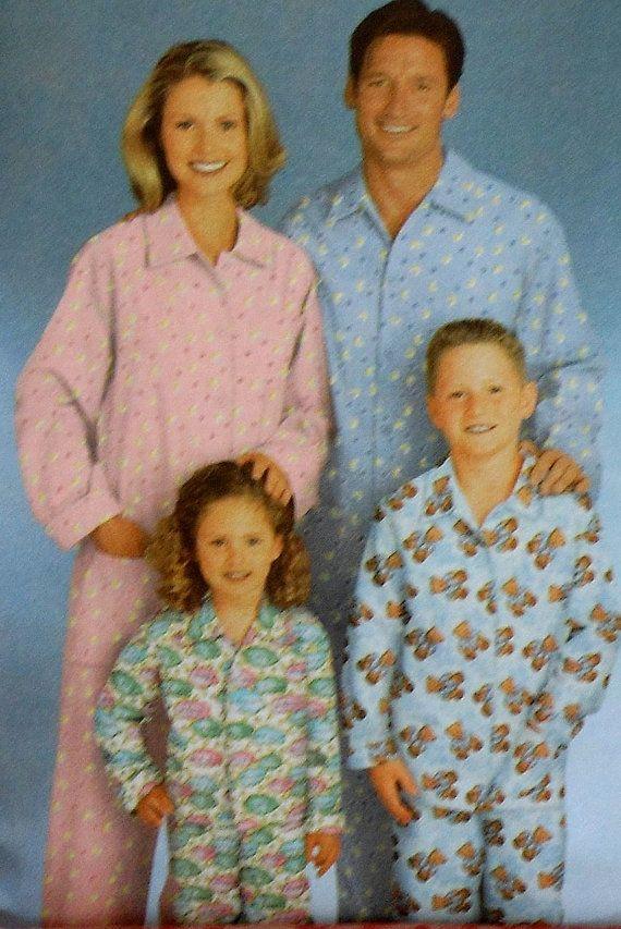 Pajamas Sewing Pattern UNCUT Simplicity 5338 by latenightcoffee