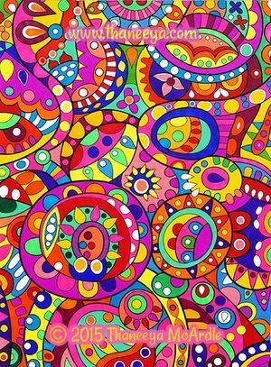Colorful Abstract Coloring Page By Thaneeya McArdle