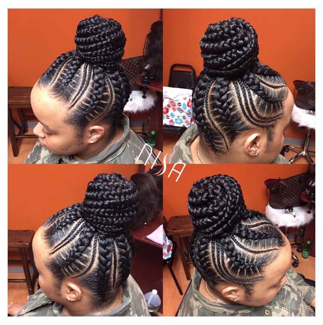 Nice Braids By Nisaraye Read The Article Here Http Blackhairinformation Com Hairstyle Gallery Nice Braids Nisar Avec Images Coiffure Cheveux Naturels Coiffures Filles