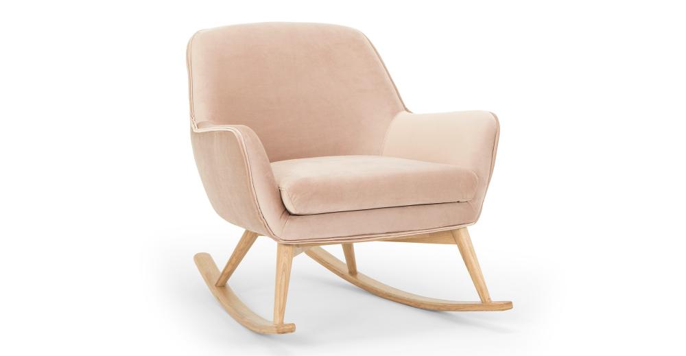 Lullaby 31 Quot Fabric Rocking Chair Enchant Velvet Rocking
