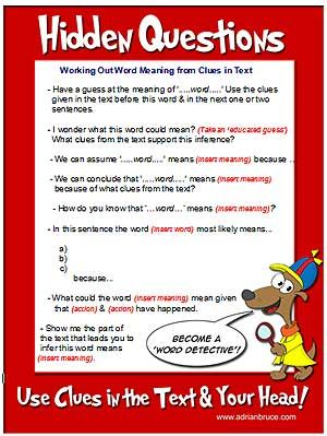 3H reading comprehension strategy question stems   Classroom ...