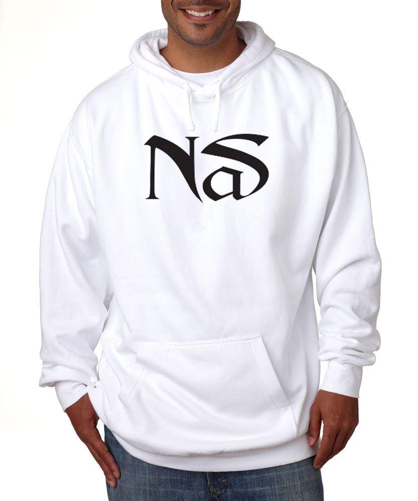Nas Logo Hoodie Hip Hop Classic Rap Nasir Jones New York Vintage illmatic New