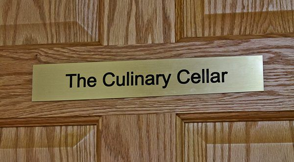 Entrance to my basement, The Culinary Cellar!