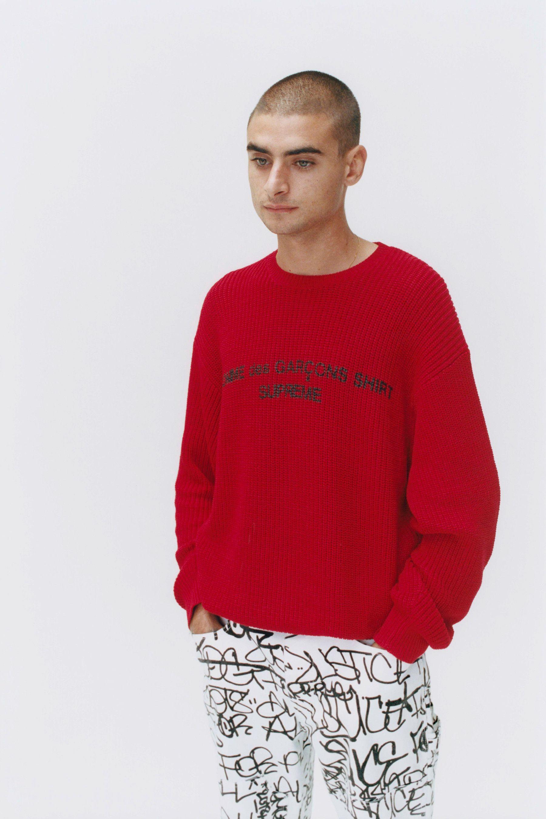 Supreme X Comme Des Garcons Shirt Fw18 Collection Cdg Shirt Comme Des Garcons Shirt Long Sleeve Tshirt Men [ 2696 x 1800 Pixel ]