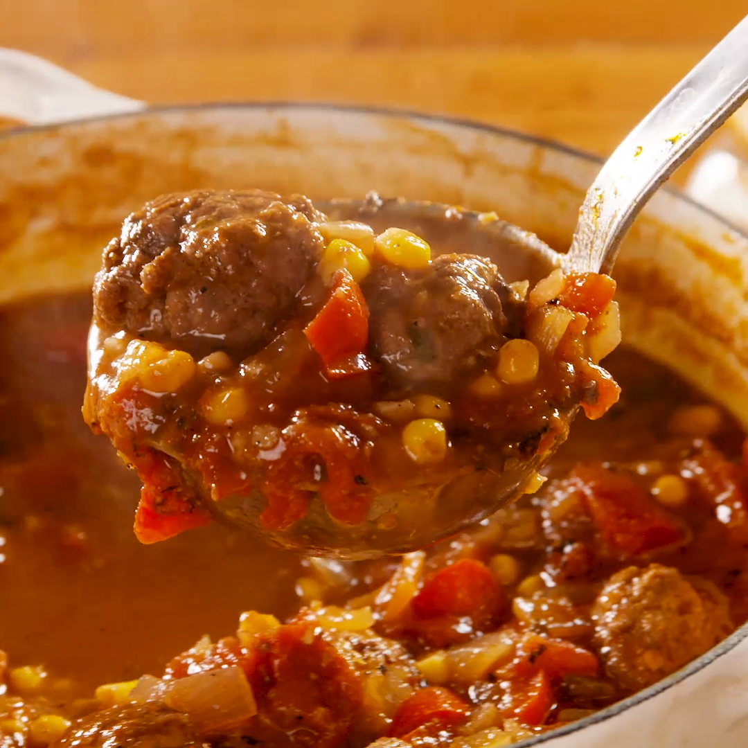 Photo of Tex-Mex Meatball Soup