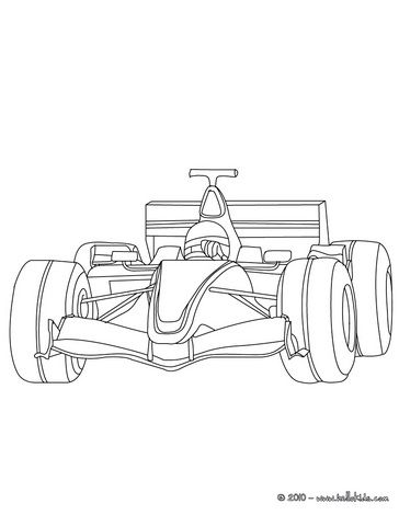 Formula One Coloring Page Coloring Pages Race Car Coloring Pages Cars Coloring Pages