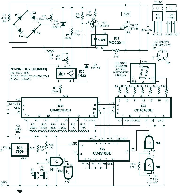 Digital Fan Speed Control Circuit Design Electronics Electrical