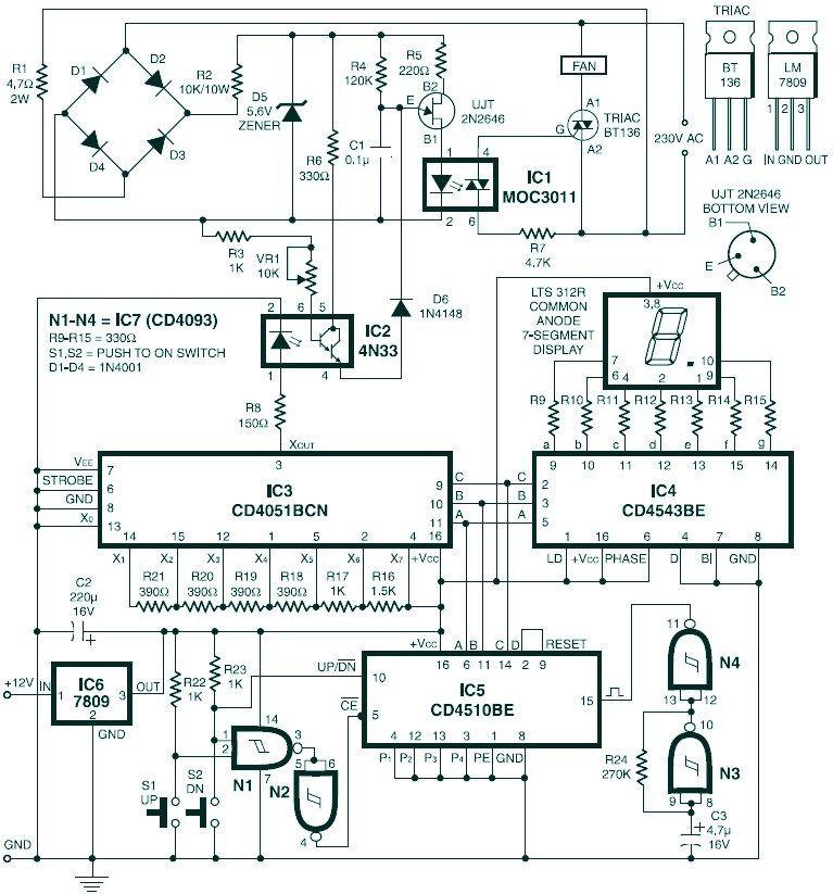 Digital Fan Speed Control Circuit Design  Electronics