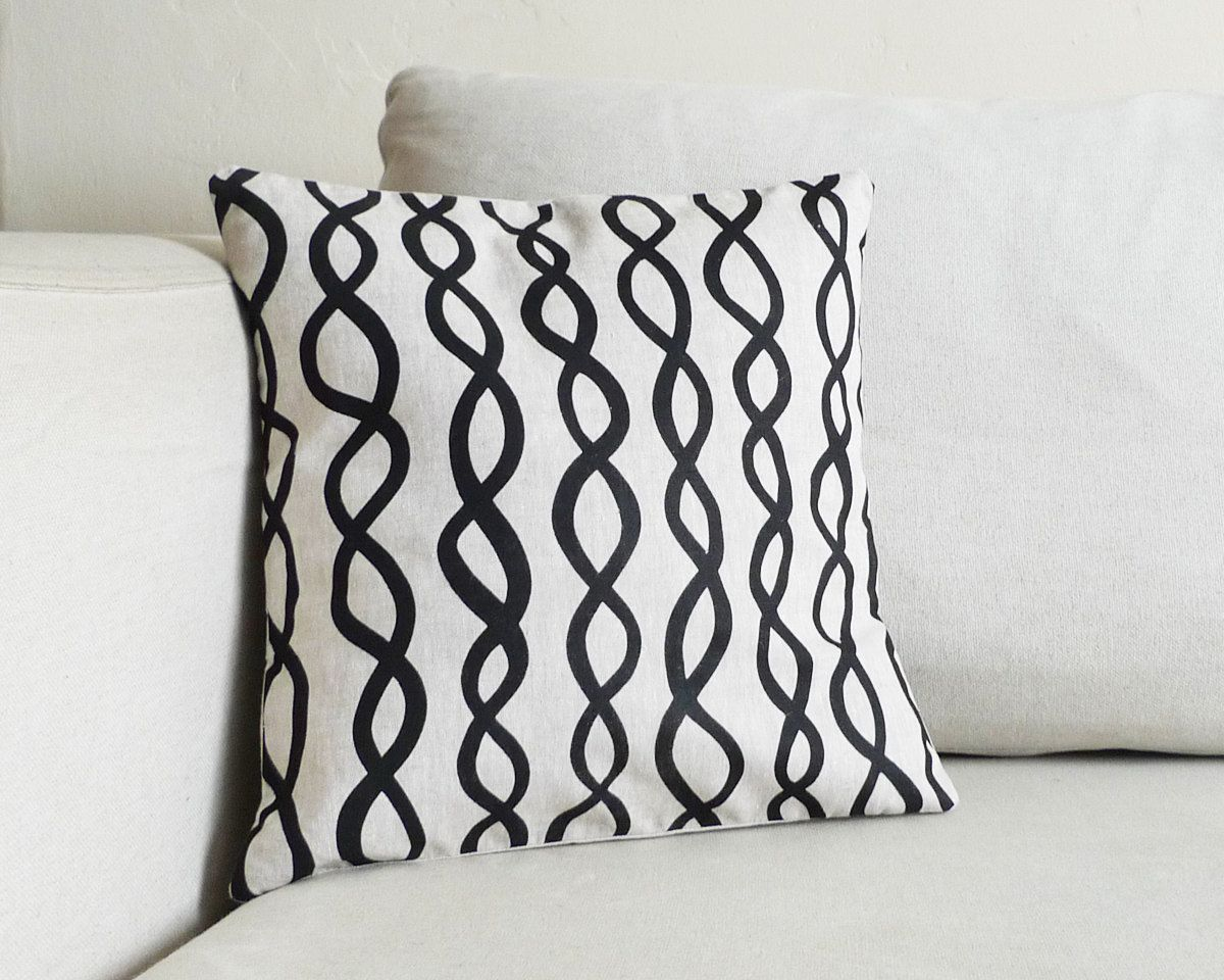 Natural Linen DNA Pillow - 13 x 13 in.. $40.00, via Etsy.