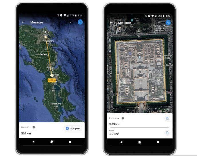 GoogleEarth launches new Tool to measure areas and
