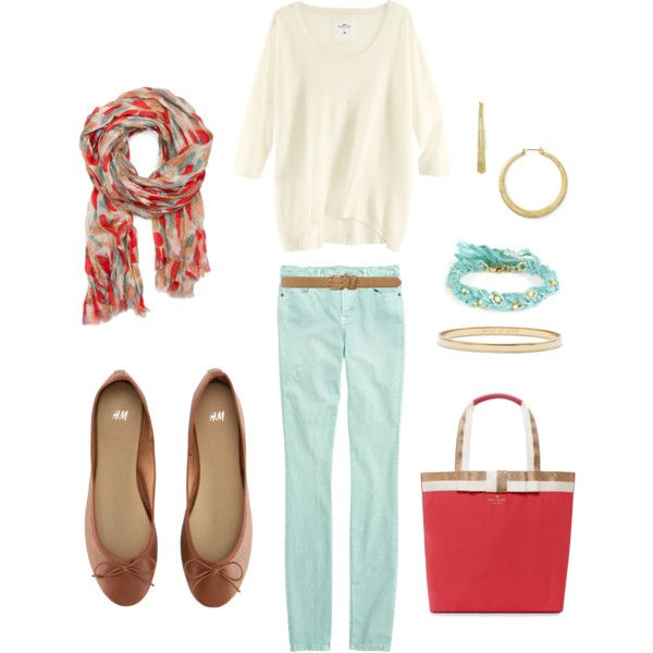 Turquoise and Coral, created by bluehydrangea.polyvore.com