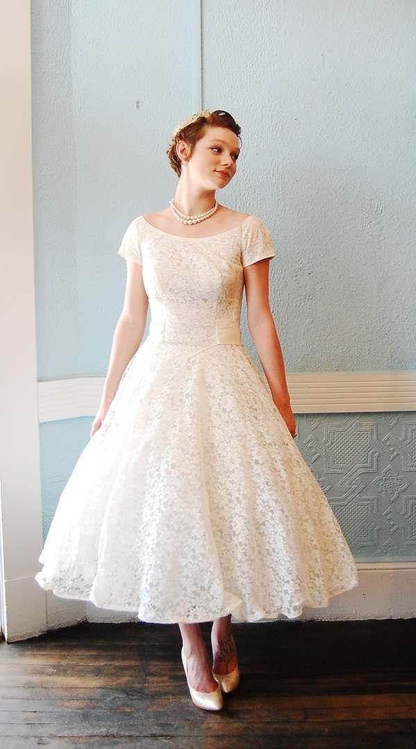 Tea Length Wedding Dresses Etsy In 2019