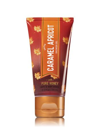Signature Collection Salted Caramel Apricot Travel Size Shower Gel Bath And Body Works Bath And Body Works Body Wash Shower Gel