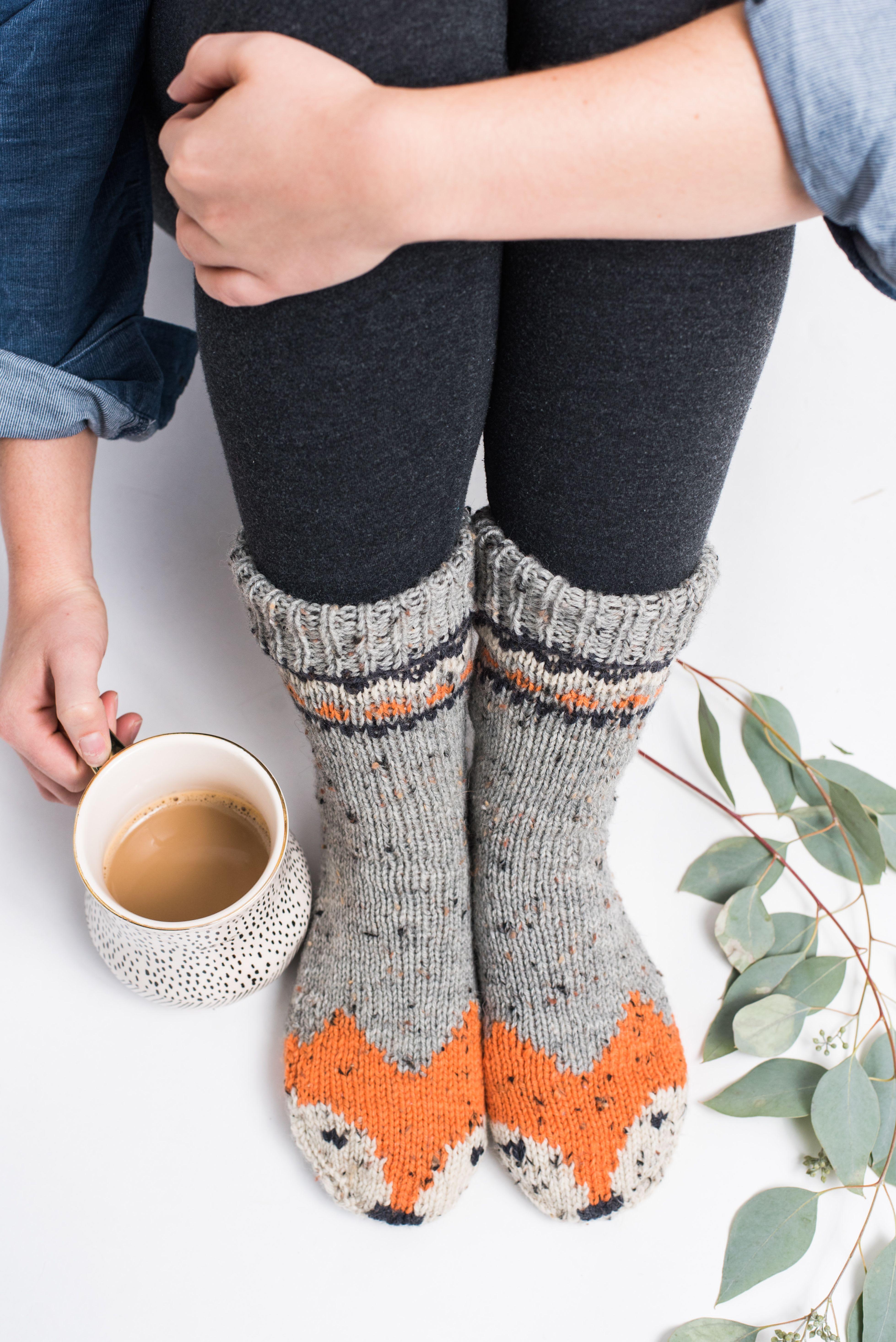 Photo of Ginger Fox Socks #knittinginspiration Do your best fox trot as you slip and slid…
