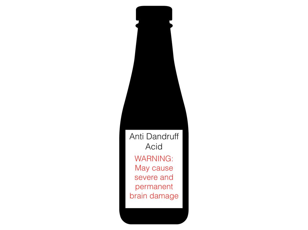 Acidic Dandruff Wine Bottle Dandruff Bottle