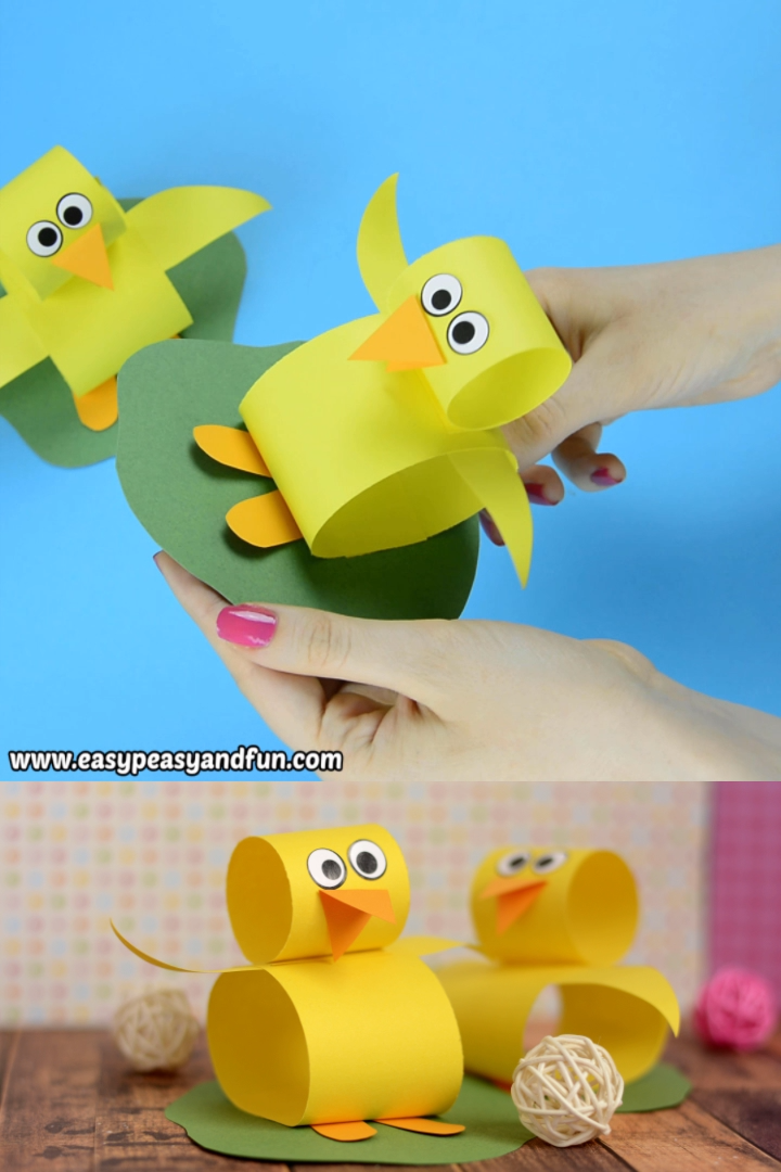 Oh we do love a good and easy Easter paper craft and this construction paper chick craft is just that