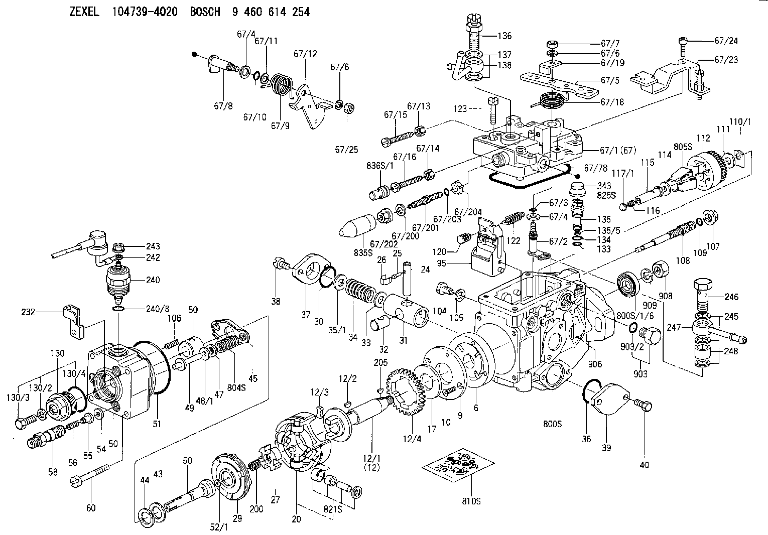 medium resolution of 104739 4020 zexel injection pump assembly