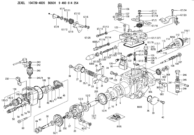 104739 4020 zexel injection pump assembly  [ 1530 x 1066 Pixel ]