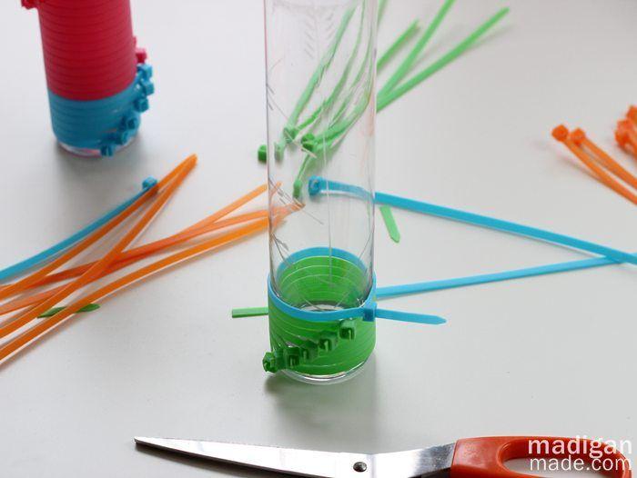 Color Block Zip Tie Vases ~ Madigan Made { simple DIY ideas ...