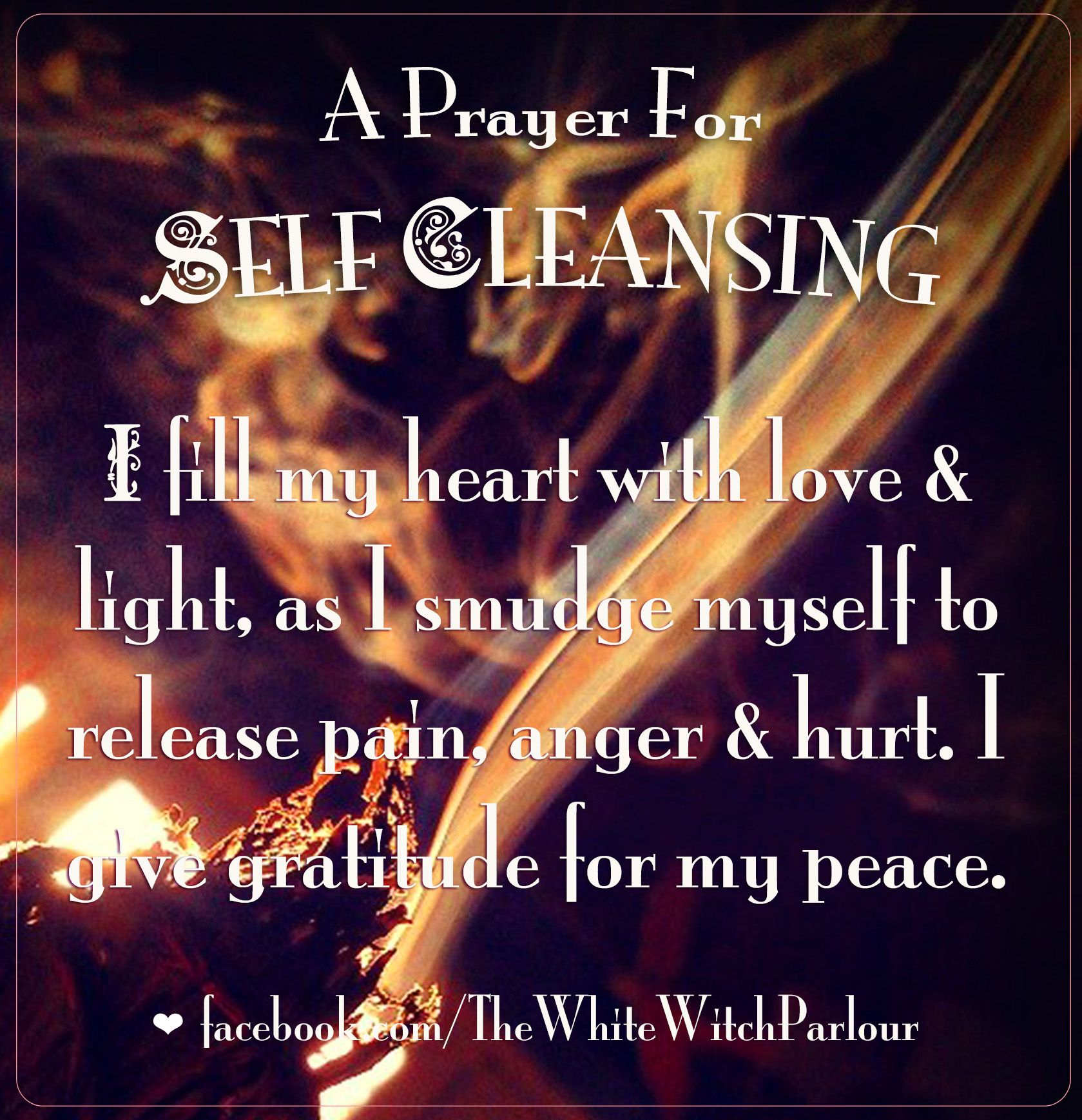 Prayers and rituals for the purification of self and kind