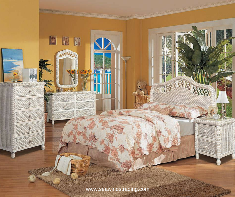 This Is Our Santa Cruz Bedroom Collection It Features Hand Woven - Glass tops for bedroom furniture