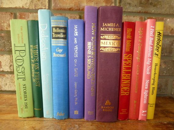 Instant Library  Vintage Books  All Colors by RiverOfTimeTreasures, $55.00