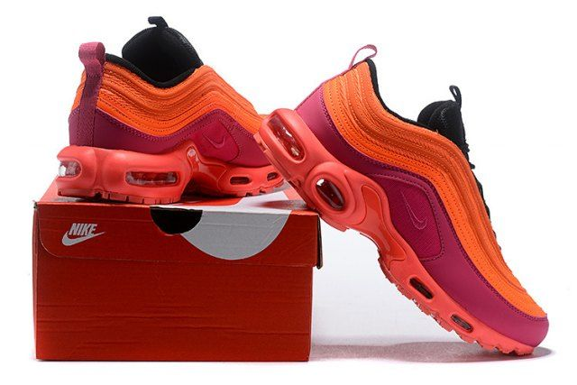 new concept 7c23b f0571 Nike Air Max 97 Plus TN Pink Purple Orange Women s Running Shoes AH8143 600