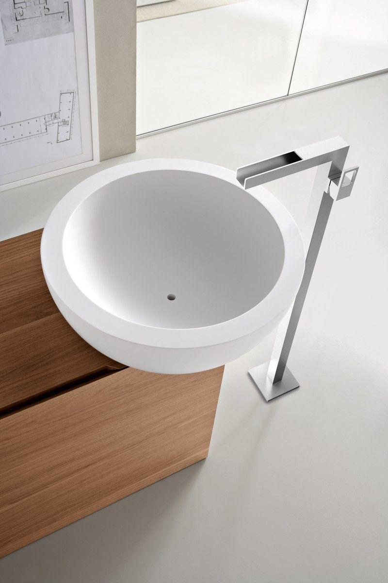 Bathroom White Washbasin Cabinet Design for Modern White Italian