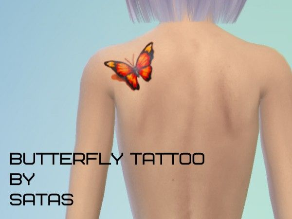 The Sims Resource Butterfly Tattoo By Satas Sims 4 Downloads