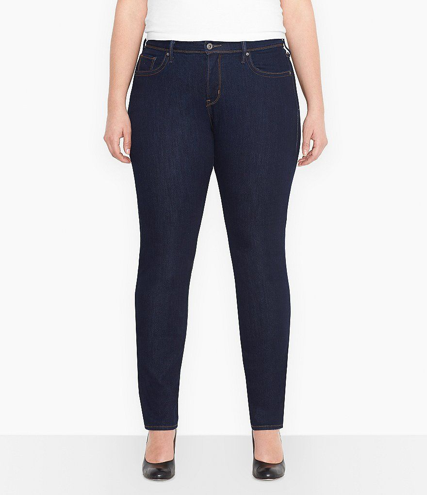 Levi's® Plus Size 512 Perfectly-Shaping Skinny Jeans, Soulful Dark Wash -  Jeans - Plus Sizes - Macy's