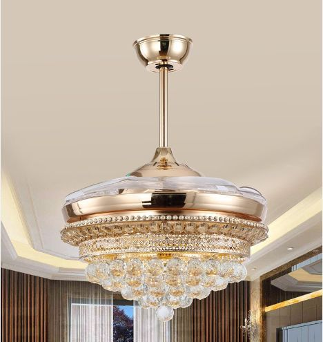 Led chips luxury ceiling fan light ceiling fan ceiling light led chips luxury ceiling fan light ceiling fan ceiling light crystal with remote control simple modern france gold 42inch click visit to buy indo aloadofball Choice Image