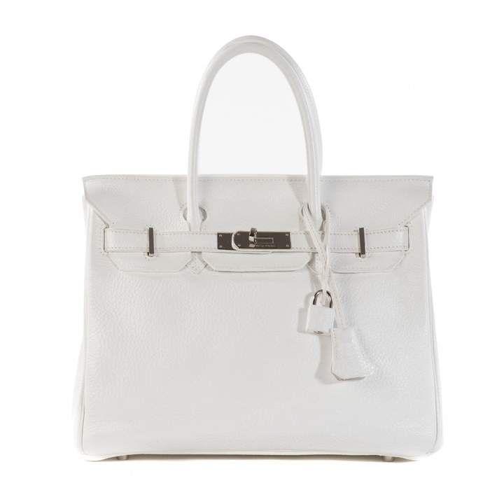cb7672c50a Hermes Birkin 30 White Leather Handbag
