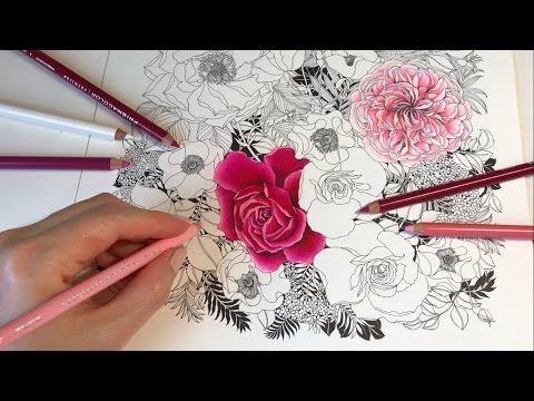 Rose Garden - Part 1: Floribunda Coloring Book - YouTube ...