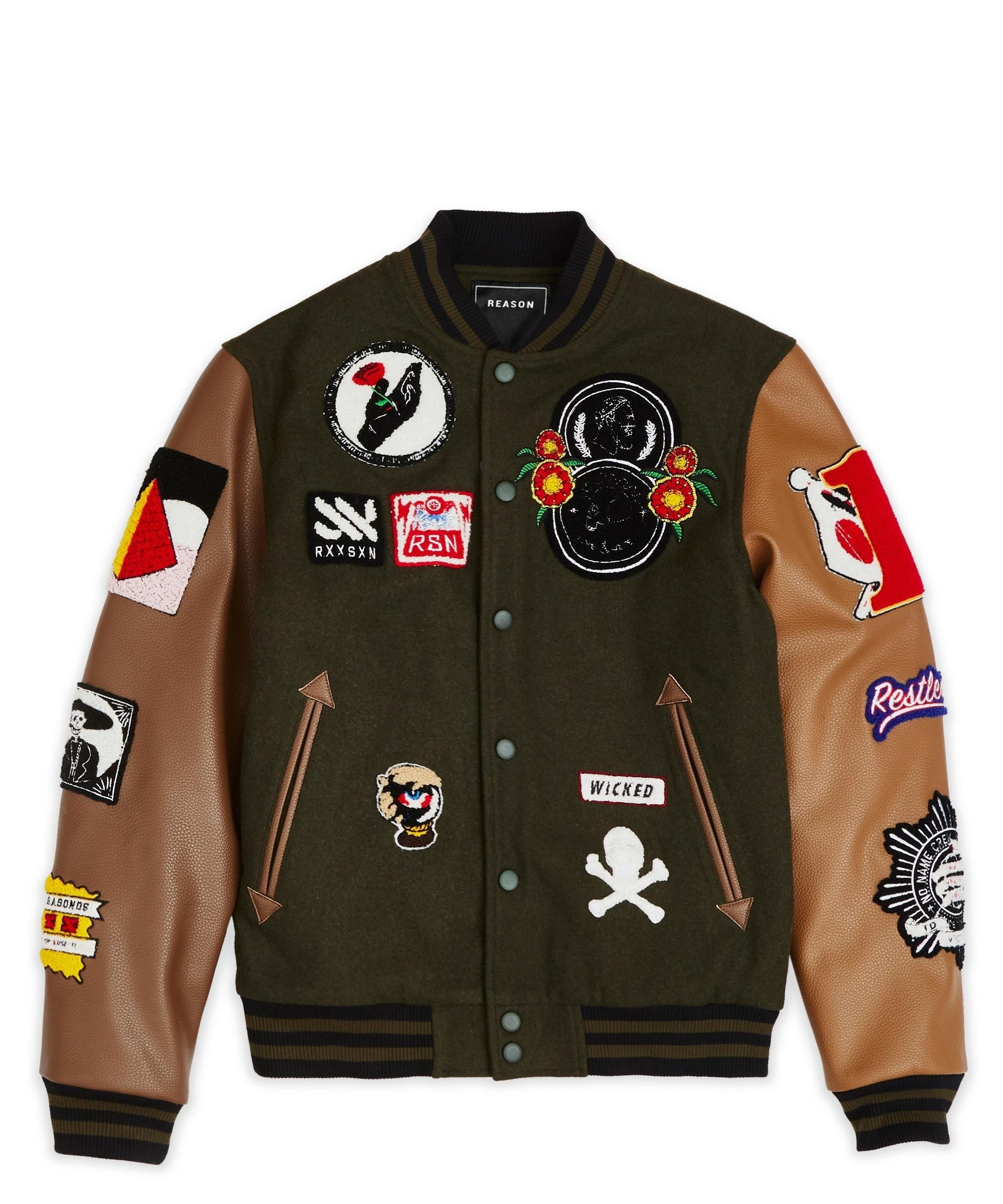 Panther varsity jacket - olive #varsityjacketoutfit