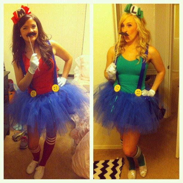 Cute Mario and luigi costumes Haha What a GREAT idea Pinterest
