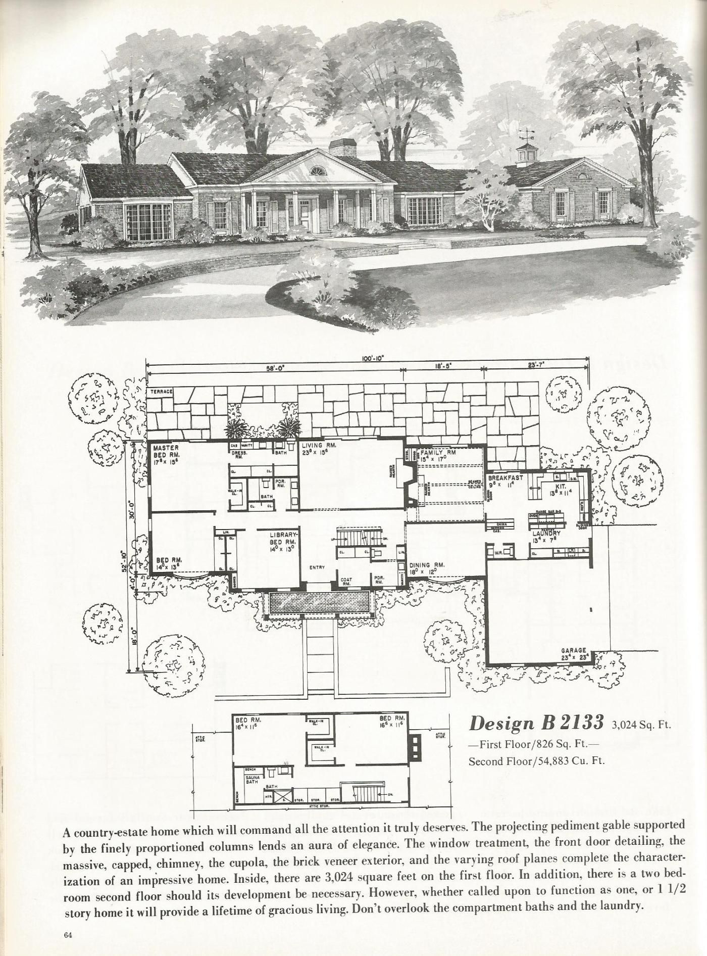 Vintage House Plans Luxurious Homes Vintage House Plans Courtyard House Plans House Plans