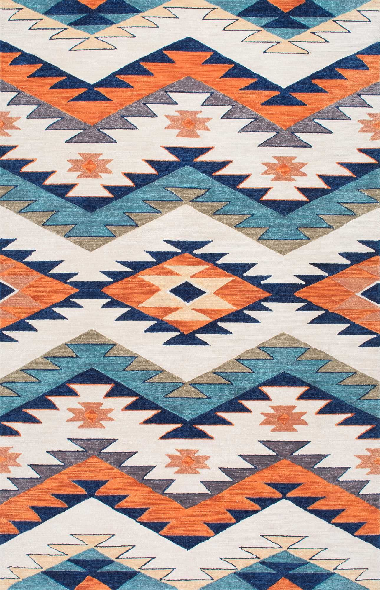 We Re Loving The Geometric Print Of This Rugs Usa Pampa