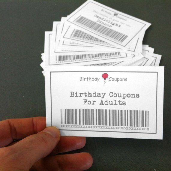 Summer SALE Birthday Coupons For Adults 39 Printable Diy Gift Instant Download Wife Birt