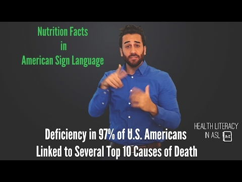 Nutrition Facts In Asl More Protein Or More Fiber For 97 Of U S Americans Youtube In 2020 Health Literacy Nutrition Facts American Health