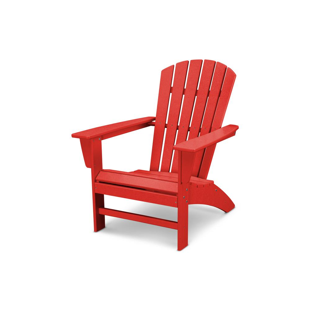 Admirable Polywood Traditional Curveback Sunset Red Plastic Outdoor Evergreenethics Interior Chair Design Evergreenethicsorg