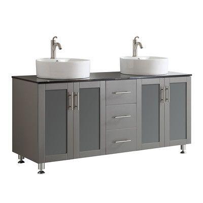 "Bathroom Remodeling Reviews vinnova tuscany 60"" double vanity set & reviews | wayfair | master"