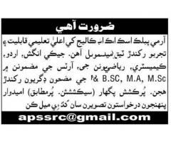 Army Public School & College Job 2019 in Karachi Apply Now