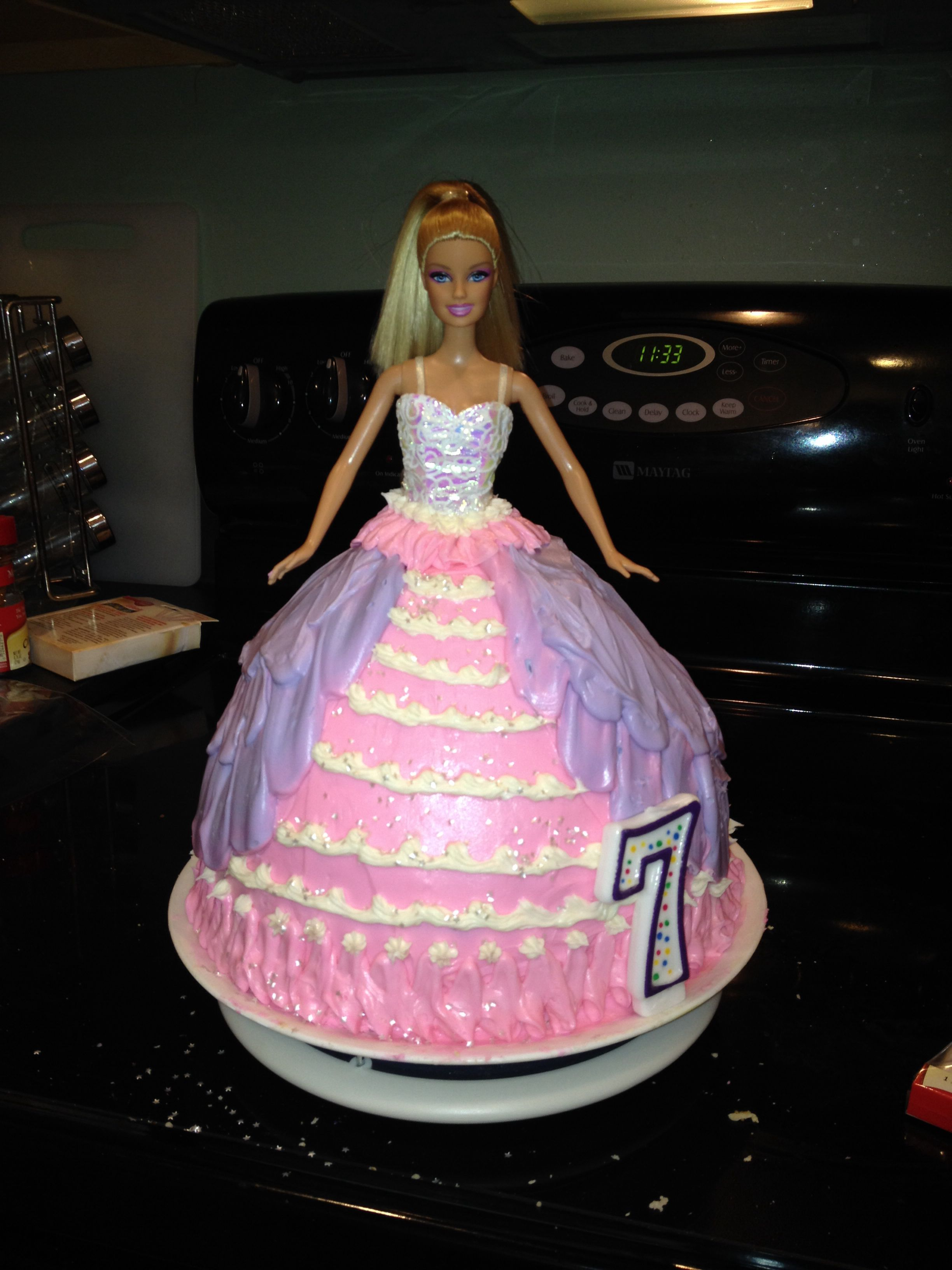 barbie cake a must have for every 7 year old girl s birthday party