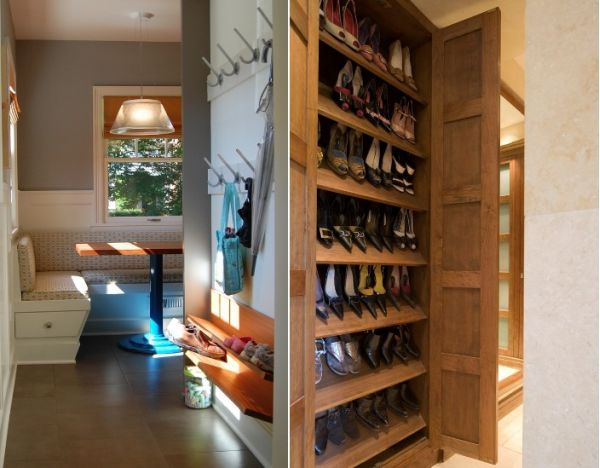 7 Clever And Space Saving Storage Solutions For All Types Of Homes Shoe Storage Solutions Storage Spaces Shoe Storage Furniture