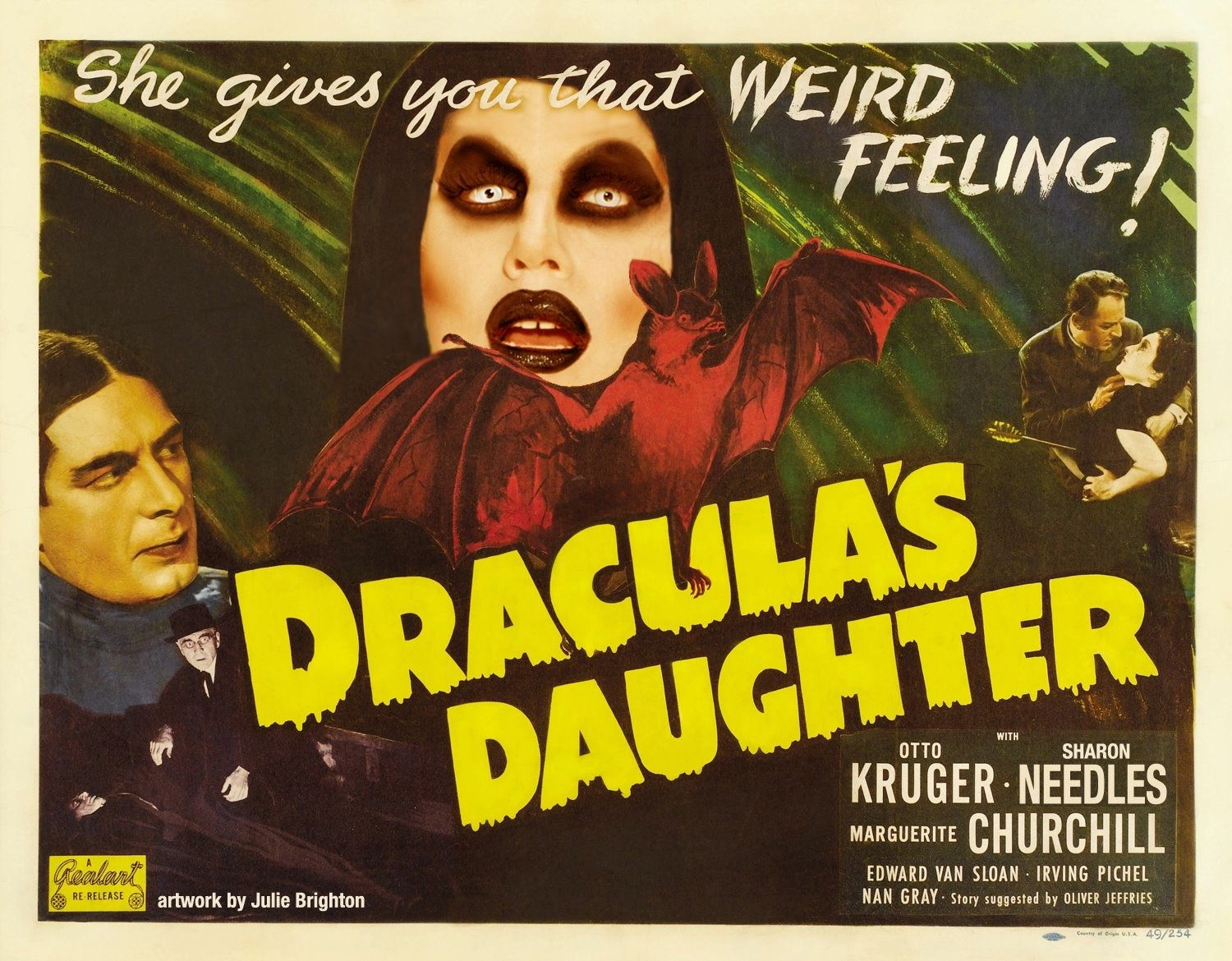 sharon needles; dracula's daughter poster by julie brighton